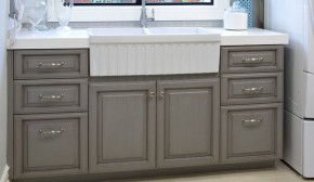 Builtins Carpenters Cabinets - Gray glazed cabinets
